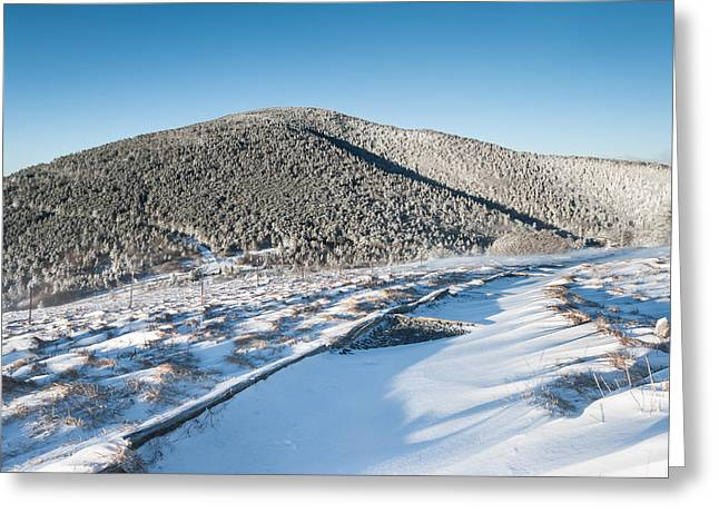 Southern Appalachians Greeting Cards - Appalachian Trail Roan Highlands Winter Scenic Greeting Card by Mark VanDyke
