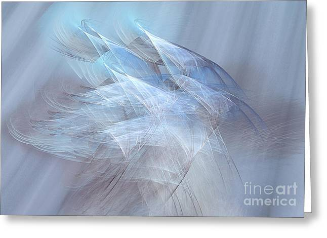 Ghostly Greeting Cards - Apparitions Rising Greeting Card by Jan Tyler