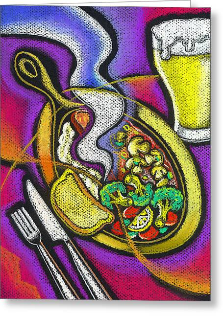Appetizing Dinner Greeting Card by Leon Zernitsky