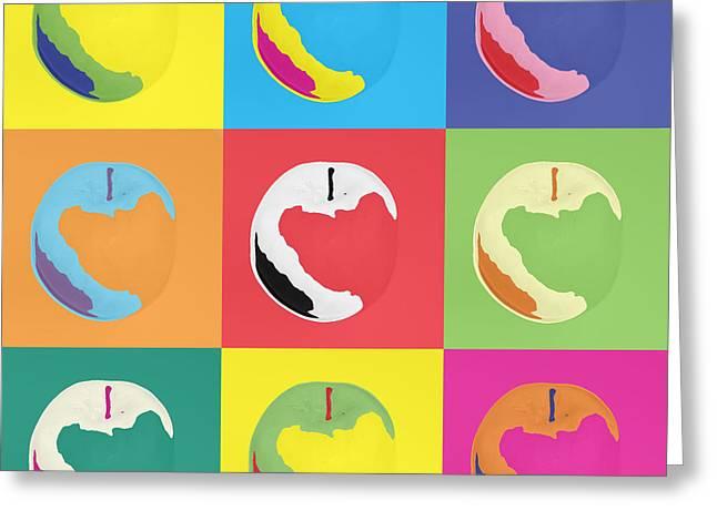Warhol Paintings Greeting Cards - Apple 22 Greeting Card by Flo Ryan