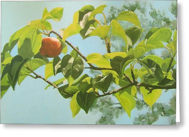Apple A Day Greeting Card by Karen Ilari