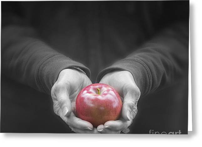 Apple For You Greeting Card by Juli Scalzi
