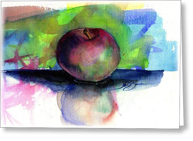 Apple Greeting Card by John D Benson