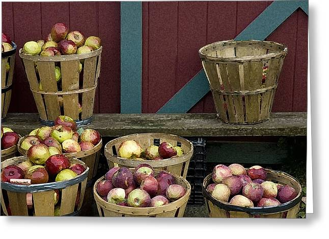 Bushel Basket Greeting Cards - Apple Time Greeting Card by Ross Powell