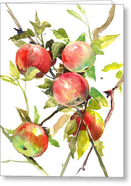 Apple Tree Greeting Card by Suren Nersisyan
