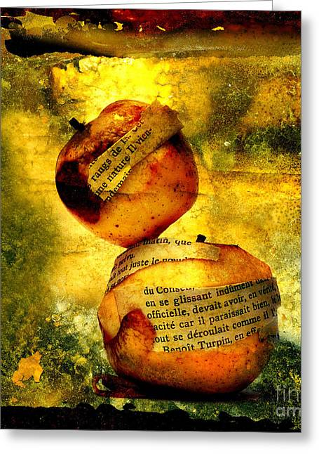 Work Digital Greeting Cards - Apples Greeting Card by Bernard Jaubert