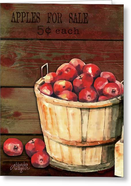 Apples For Sale Greeting Card by Arline Wagner