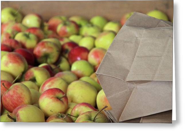Apple Crates Greeting Cards - Apples For Sale Greeting Card by Odd Jeppesen