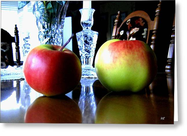 Apples Still Life Greeting Card by Will Borden
