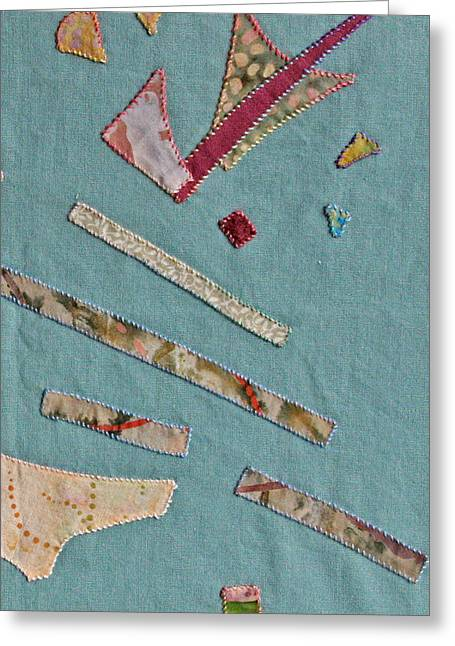 Detail Tapestries - Textiles Greeting Cards - Applique Detail Greeting Card by Eileen Hale