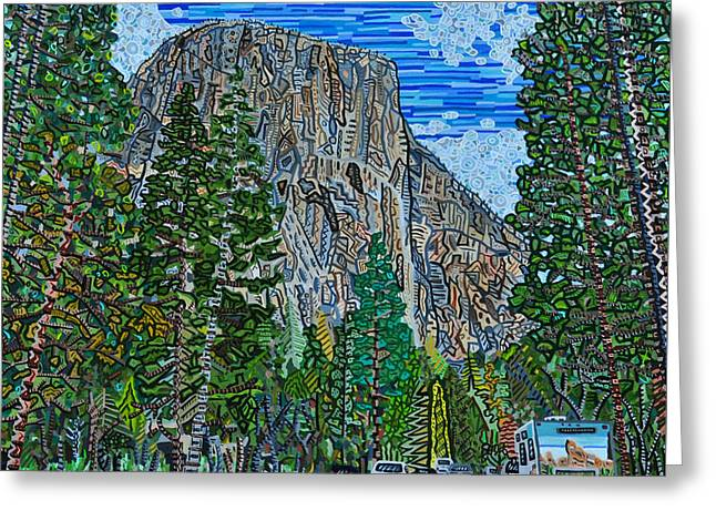Approaching El Capitan Yosemite National Park Greeting Card by Micah Mullen