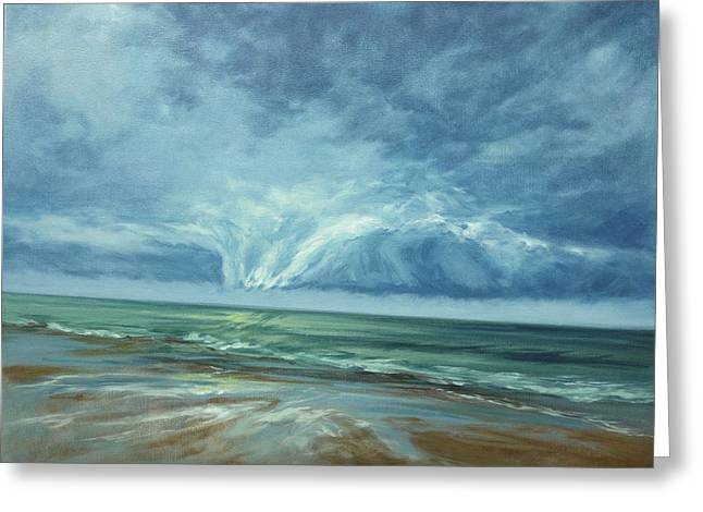 Storm Clouds Cape Cod Greeting Cards - Approaching Greeting Card by Lisa Ridabock