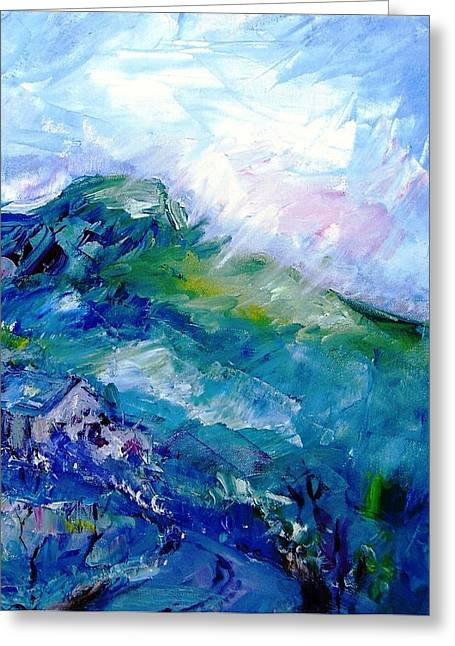Forty Paintings Greeting Cards - Approaching Rain Eagle Hill Hacketstown  Greeting Card by Trudi Doyle