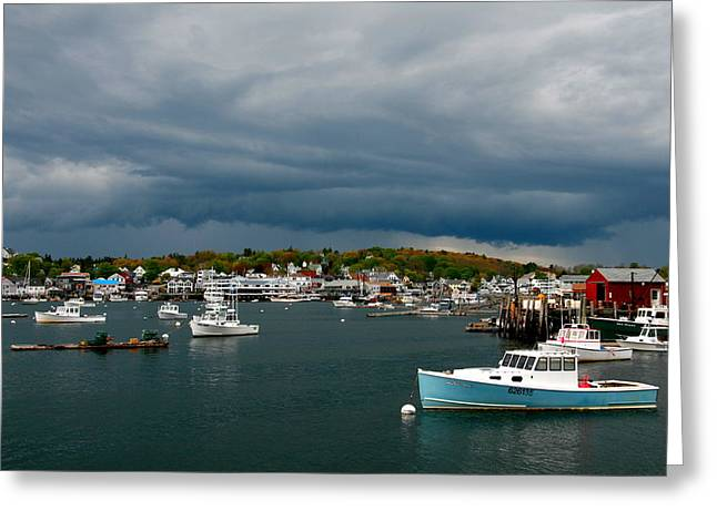 Boothbay Harbor Greeting Cards - Approaching Storm Greeting Card by Bill Keiran