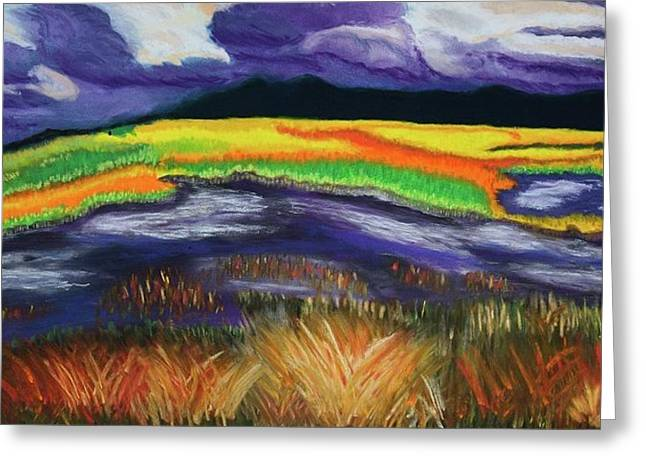 Storm Pastels Greeting Cards - Approaching Storm Greeting Card by Judi Schultze
