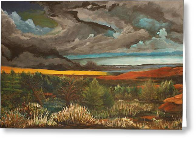 Meeting. Point Greeting Cards - Approaching Storm Greeting Card by Shannon Rains