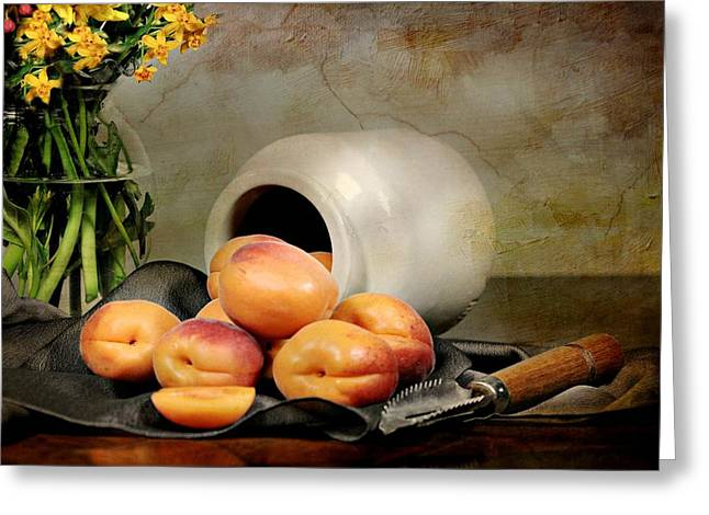 Apricots Greeting Card by Diana Angstadt