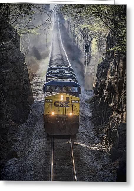 April 4. 2015 - Csx Loaded Coal Train T087 Greeting Card by Jim Pearson