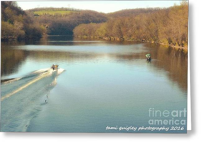 April On The Delaware Greeting Card by Tami Quigley