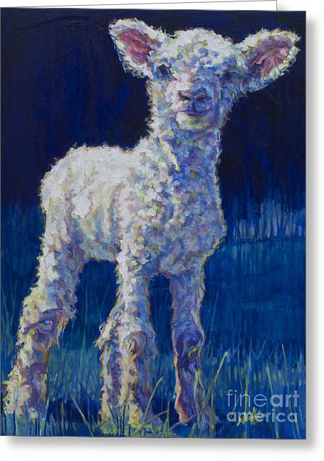 Ovine Greeting Cards - April Greeting Card by Patricia A Griffin