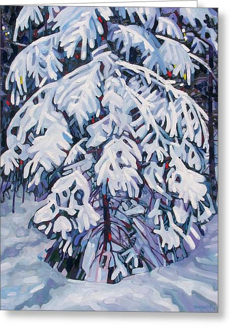 April Snow Greeting Card by Phil Chadwick
