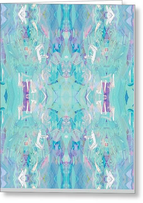 Aqua Greeting Card by Beth Travers