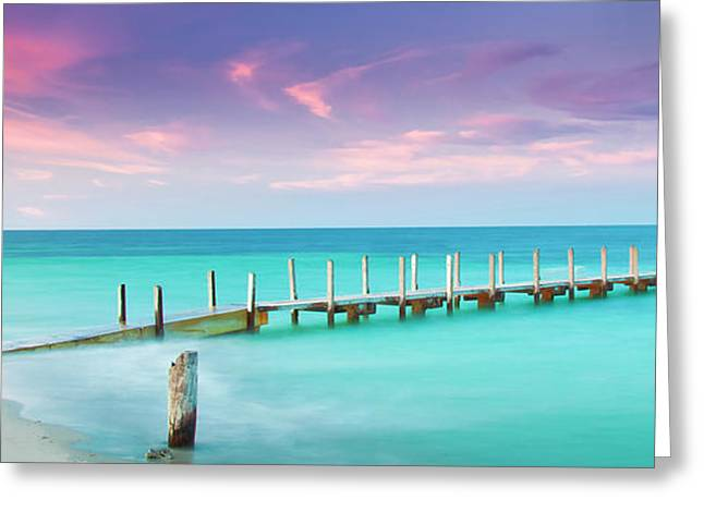Aqua Waters  Greeting Card by Az Jackson