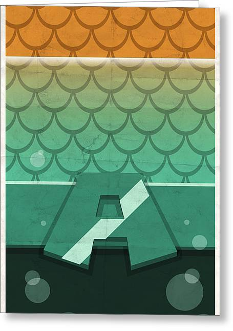 Dc Comics Greeting Cards - Aquaman Greeting Card by Michael Myers