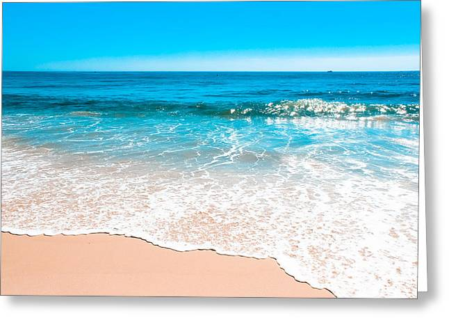 Ocean Photography Greeting Cards - Aquamarine Island Beach Greeting Card by Colleen Kammerer