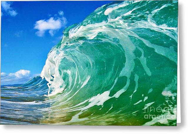 Surf Art Digital Art Greeting Cards - Aquamarine Greeting Card by Paul Topp