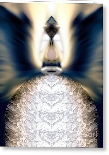 Angel Blues Greeting Cards - Aquariel Greeting Card by Raymel Garcia