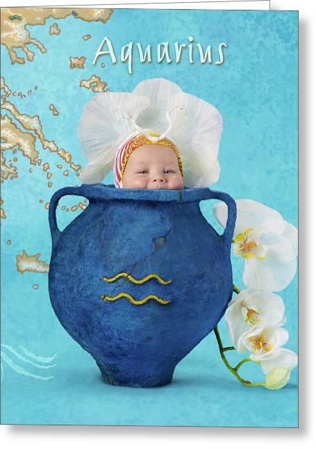 Aquarius Greeting Card by Anne Geddes