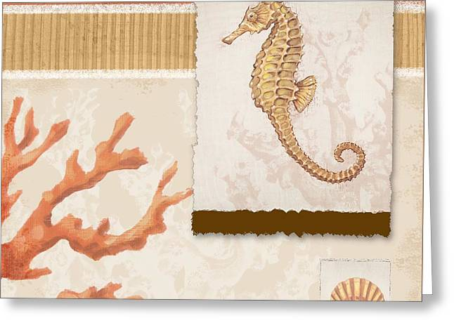 Sea Horse Greeting Cards - Aquarius I - Coral Greeting Card by Paul Brent