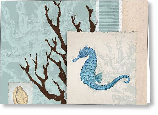 Tropical Island Greeting Cards - Aquarius II - Blue Greeting Card by Paul Brent