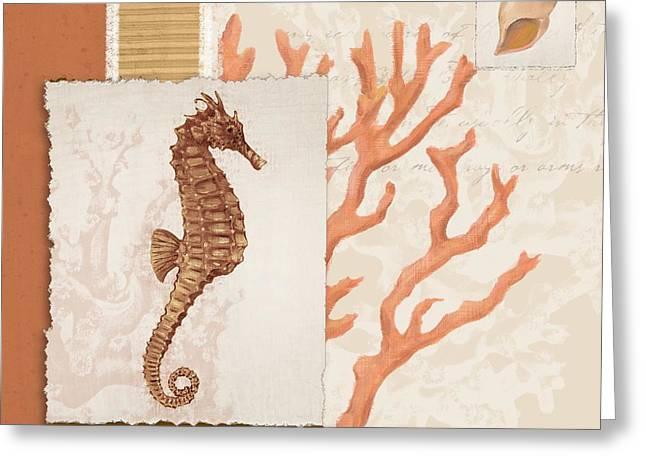 Aquarius Greeting Cards - Aquarius II - Coral Greeting Card by Paul Brent