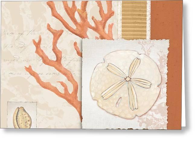 Aquarius Greeting Cards - Aquarius III - Coral Greeting Card by Paul Brent