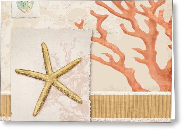 Aquarius Greeting Cards - Aquarius IV - Coral Greeting Card by Paul Brent