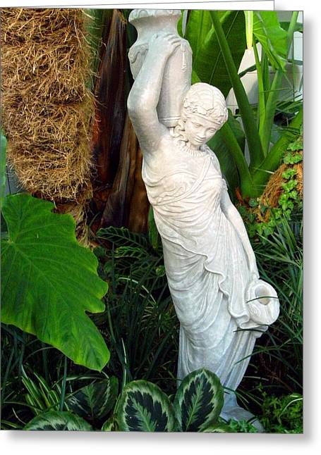 Greek Sculpture Greeting Cards - Aquarius Greeting Card by Mindy Newman