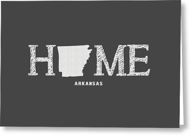 Arkansas State Map Greeting Cards - AR Home Greeting Card by Nancy Ingersoll