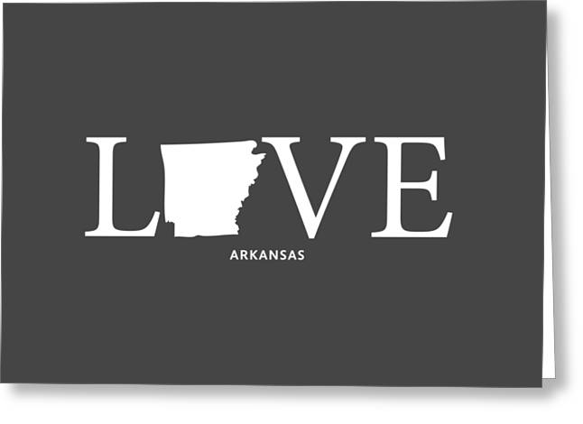 Arkansas State Map Greeting Cards - AR Love Greeting Card by Nancy Ingersoll