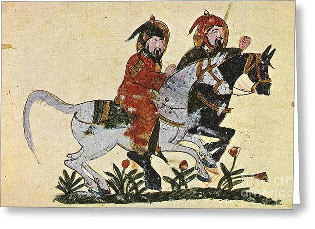 Baghdad Greeting Cards - Arabic Horseman 1210 Greeting Card by Granger