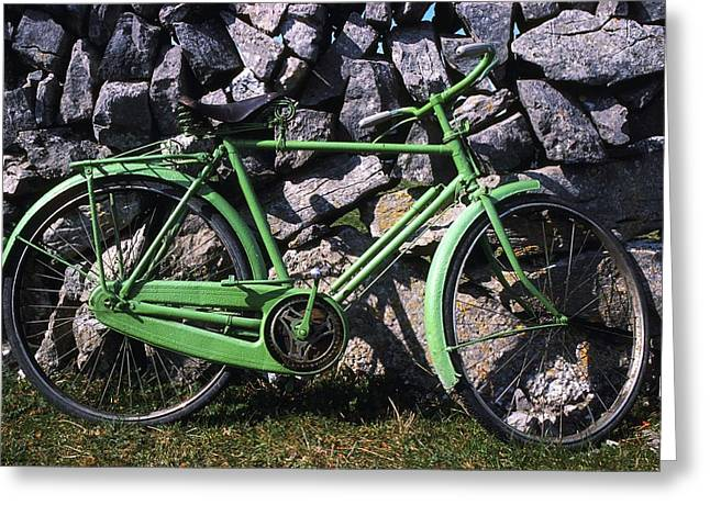 Aran Islands Greeting Cards - Aran Islands, Co Galway, Ireland Bicycle Greeting Card by The Irish Image Collection