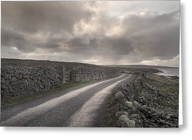 Inishmore Greeting Cards - Aran Islands Seaside Drive Greeting Card by Betsy A  Cutler