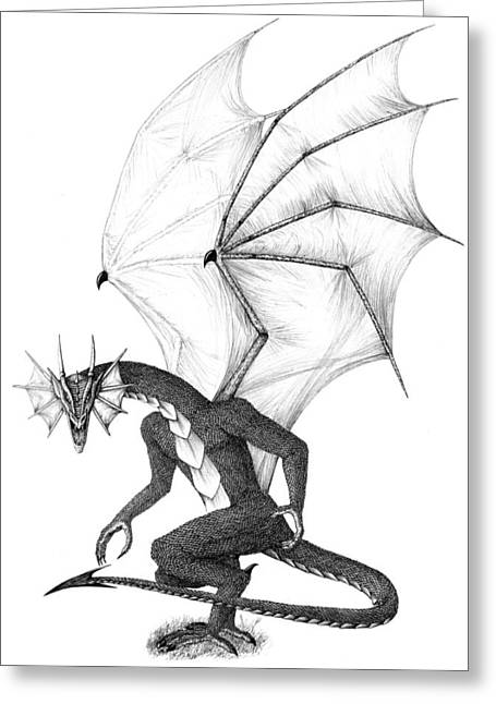 Dragon Concept Greeting Cards - Arangast Greeting Card by Emma Spears
