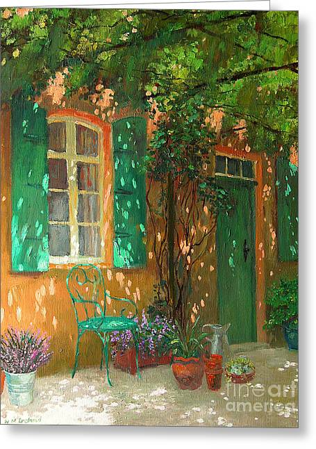 Garden Chairs Greeting Cards - Arbour Greeting Card by William Ireland