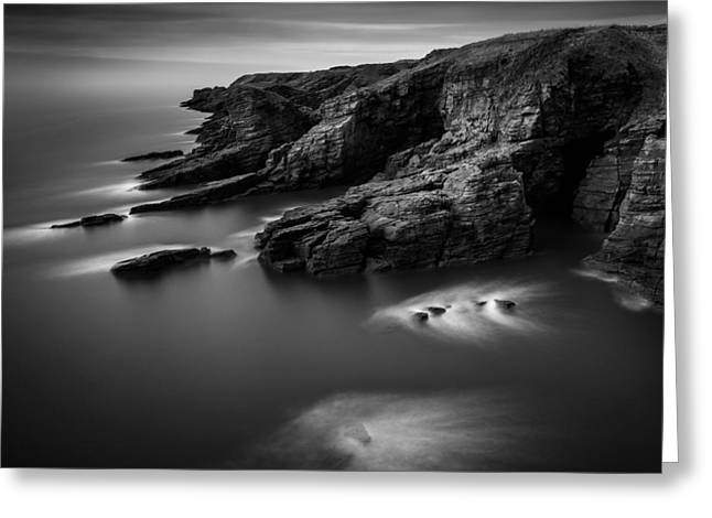 Angus Greeting Cards - Arbroath Cliffs Greeting Card by Dave Bowman