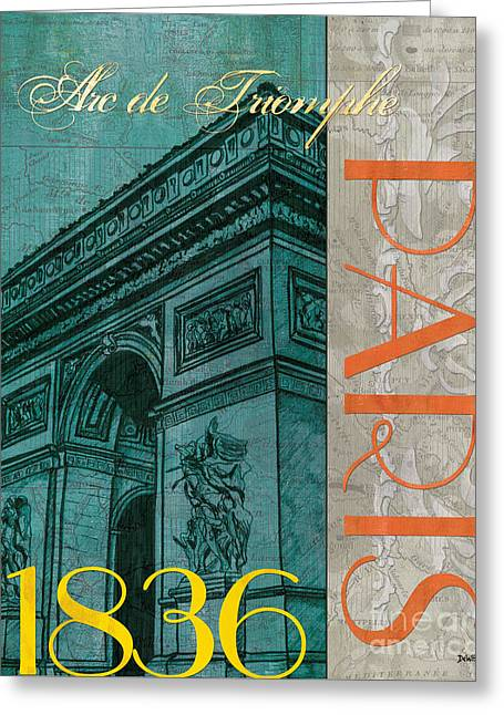 Dated Paintings Greeting Cards - Arc de Triomphe Greeting Card by Debbie DeWitt