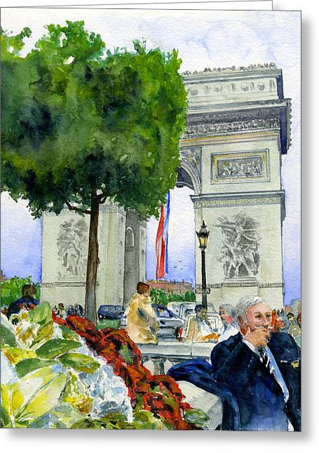 Arc De Triomphe Greeting Card by John D Benson