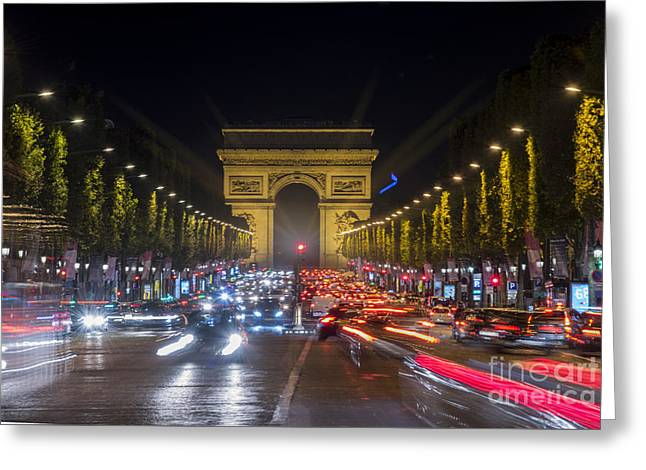 Long Street Greeting Cards - Arc de Triomphe Greeting Card by Juli Scalzi