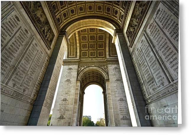 Bastille Greeting Cards - Arc De Triomphe Paris Greeting Card by Charuhas Images
